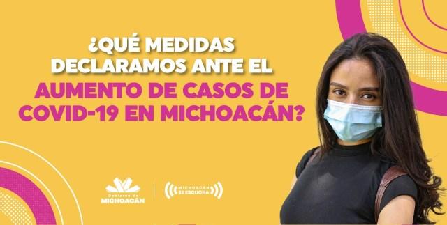 Con nuevas medidas, se busca frenar el COVID-19 en Michoacán