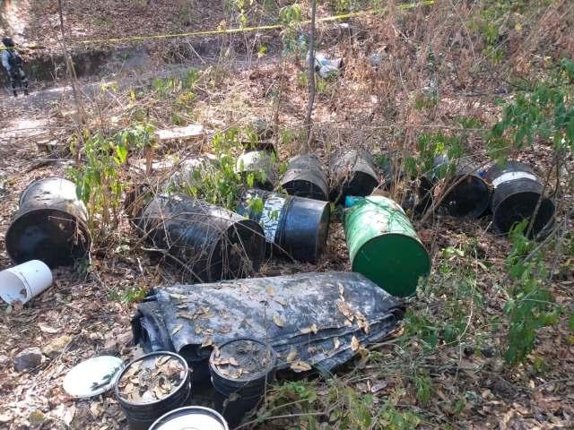 GN inhabilita narcolaboratorio en la región de Tzitzio