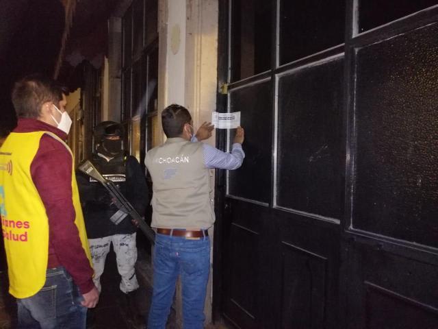 Suspendidos cinco establecimientos en Morelia, por no cumplir medidas sanitarias