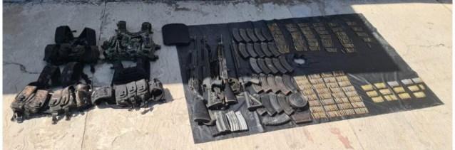 En Operación Conjunta Michoacán se detuvo a 4 personas en posesión de 4 armas y 975 cartuchos