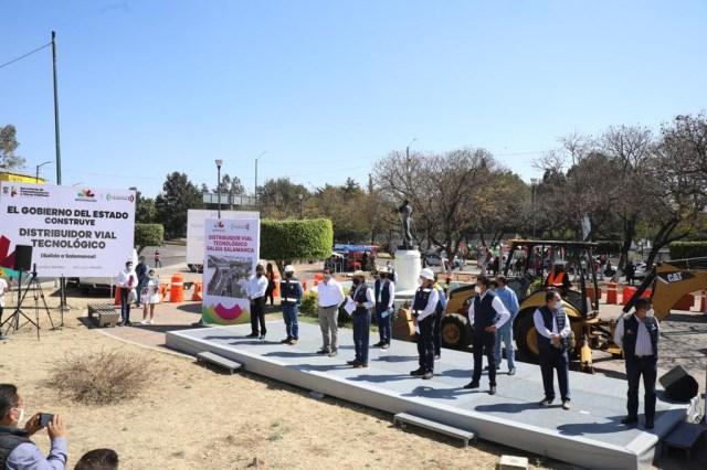 Arranca Gobernador construcción del Distribuidor Vial de salida a Salamanca