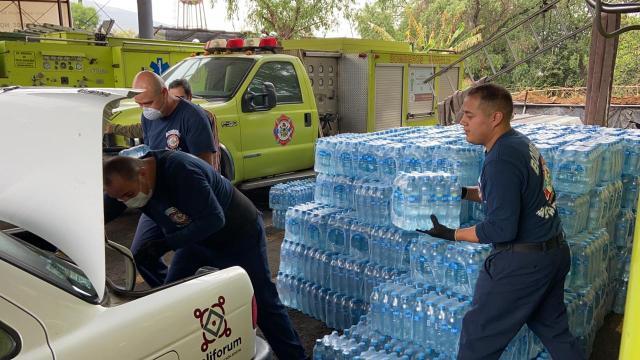 Protección Civil Morelia apoya con hidratación a adultos mayores