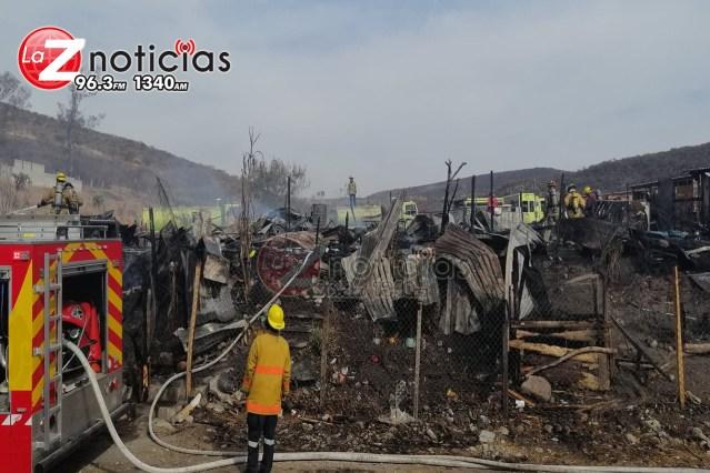 Arden varias casas en la colonia Paraíso Industrial, Morelia