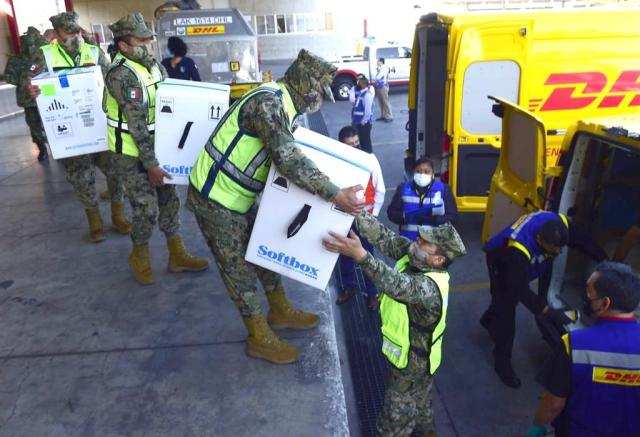 Llega a México lote con más de 600 mil vacunas contra Covid-19 de Pfizer
