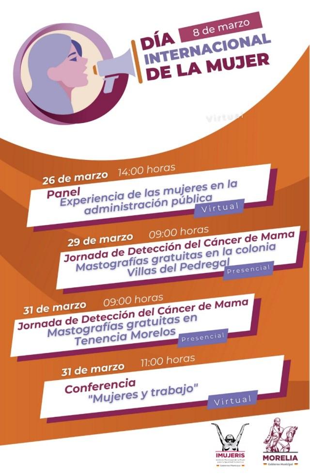 Continúa IMUJERIS la programación en el mes de marzo, en el marco del Día Internacional de la Mujer