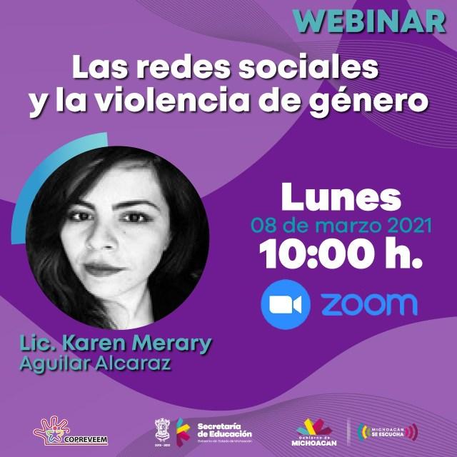 Realiza SEE webinar contra violencia de género
