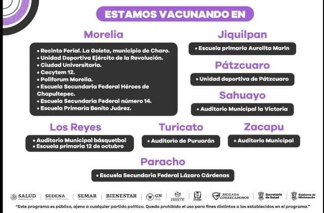 Se reabre jornada de inmunización anti COVID-19 en 8 municipios