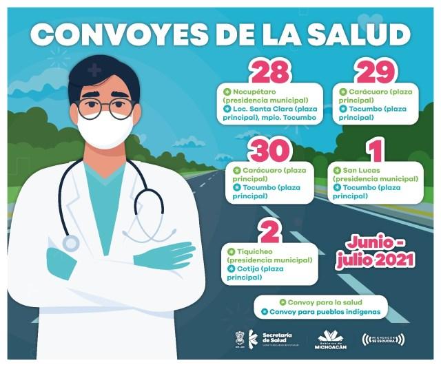 Convoyes de la salud, brindarán servicio gratuito del 28 de junio al 2 de julio