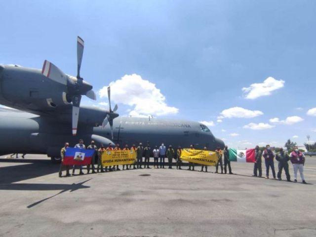 Llegan a Haití dos aviones de la Sedena con ayuda humanitaria