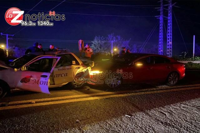Se registra accidente múltiple en el Libramiento de Zamora; hay 6 heridos
