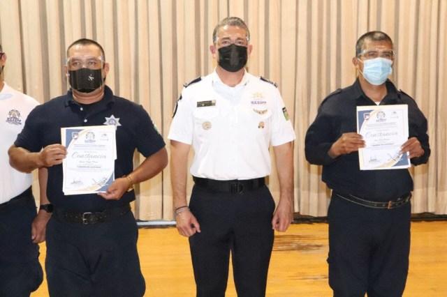 Clausura IEESSPP curso de Cadena de Custodia para policías municipales