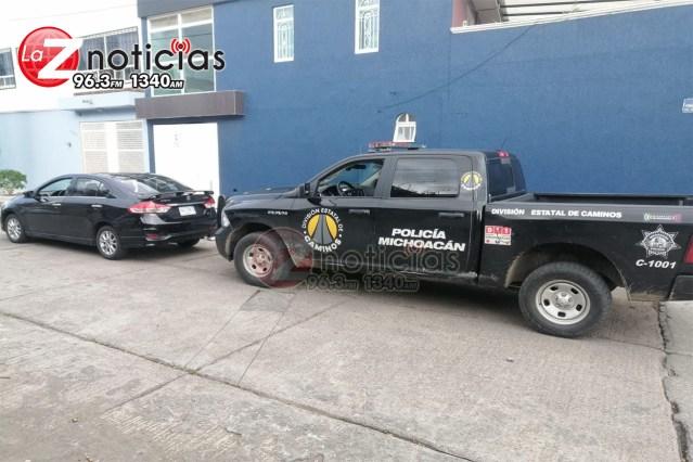 División Estatal de Caminos asegura a uno en posesión de un vehículo con reporte de robo