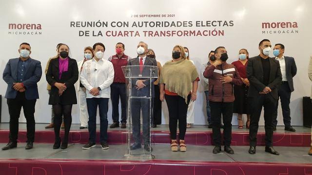 Presidente Nacional de Morena se reúne con autoridades electas de Michoacán