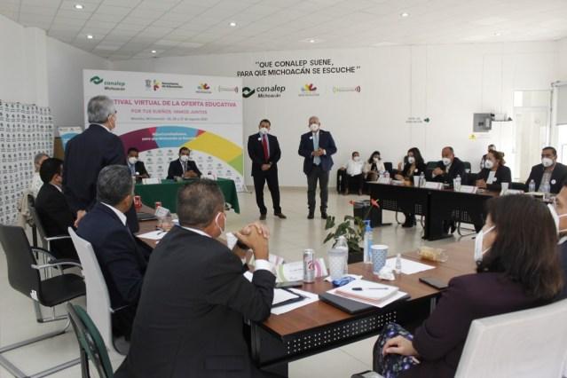 En reunión, analizan estrategias educativas en el Conalep Michoacán