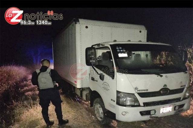 SSP recupera camión que fue robado con violencia