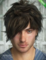 crazy locks male hair daz3d