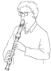 Flute bec joueur dessin laziqacaz - Dessin de flute ...