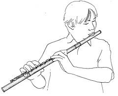 Flute trav joueur dessin laziqacaz - Dessin de flute ...