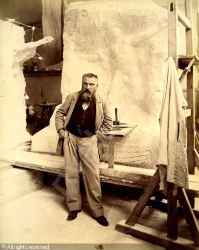 rodin dans son atelier photograpie de Dornac