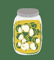 jar of food illustrated