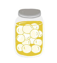 jar of food illustrated