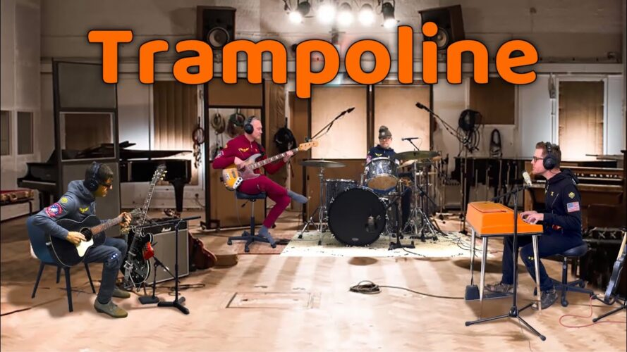 "Lazlo Bane return with new version of ""Trampoline"""