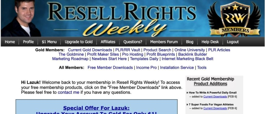 Resell-Rights-Weekly-best-plr-membership-site