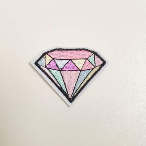 Strijkapplicatie Diamant pastel