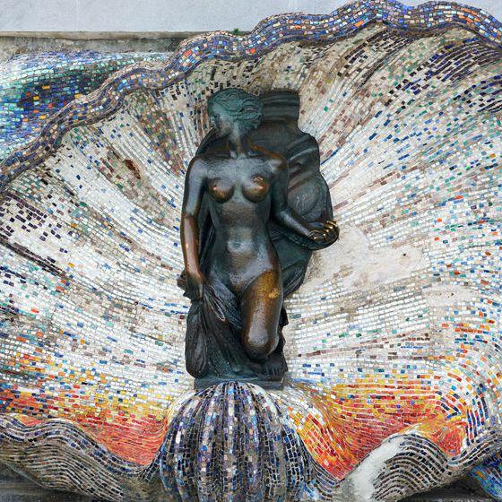 Sculpture Nimfa Svetlogorsk Kaliningrad Oblast Russia