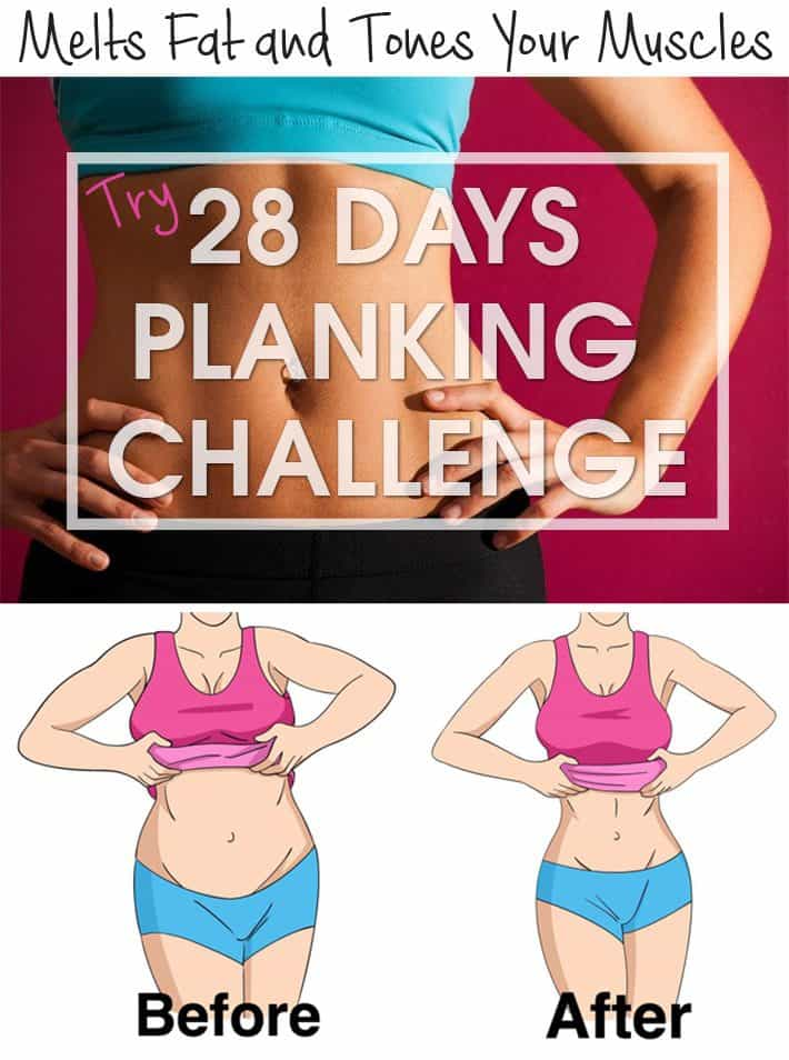 Melts Fat and Tones Your Muscles: Try the 28 Days Planking Challenge