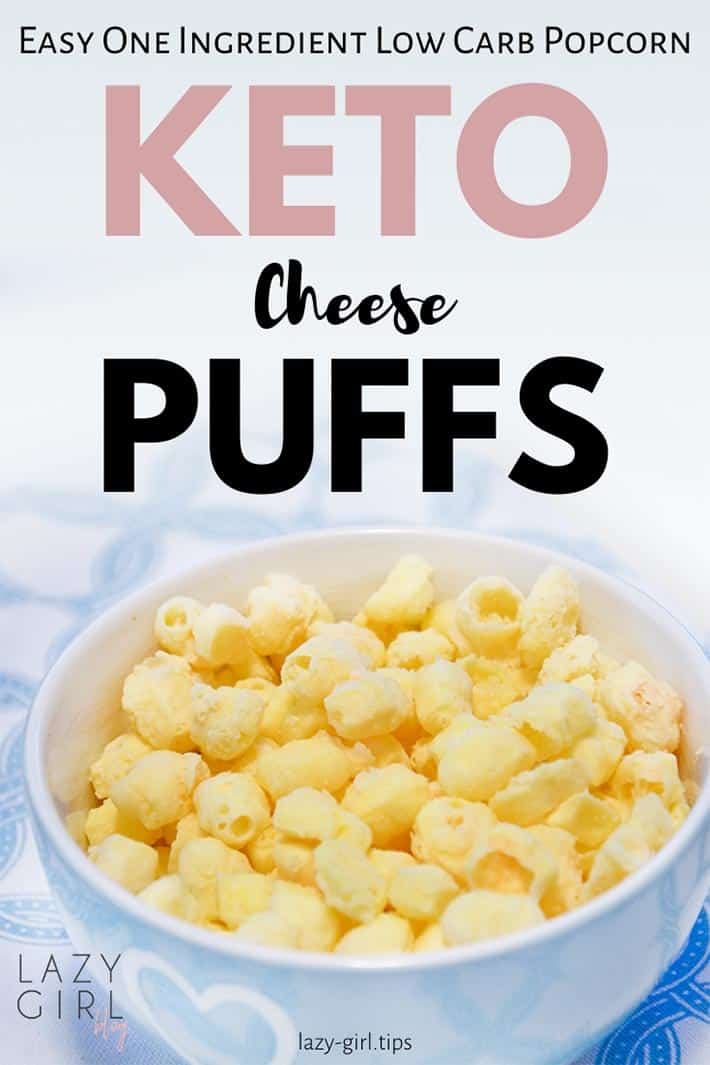 These Keto Cheese Puffs are an absolute lifesaver when it comes to beating the cravings for chips or popcorn. They are very simple to make, and next time you're craving that salty, cheesy, crunch give these a try! #keto #cheesepops #lowcarb #1ingredient
