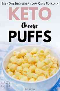 One Ingredient Low Carb Popcorn - Keto Cheese Puffs