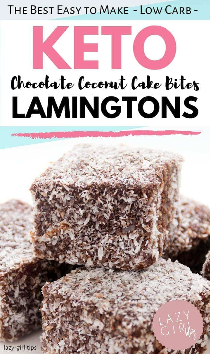 Keto Lamingtons – Best Low Carb Chocolate Coconut Cake Bites