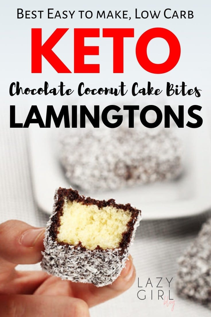 Best Low Carb Chocolate Coconut Cake Bites - Keto Lamingtons