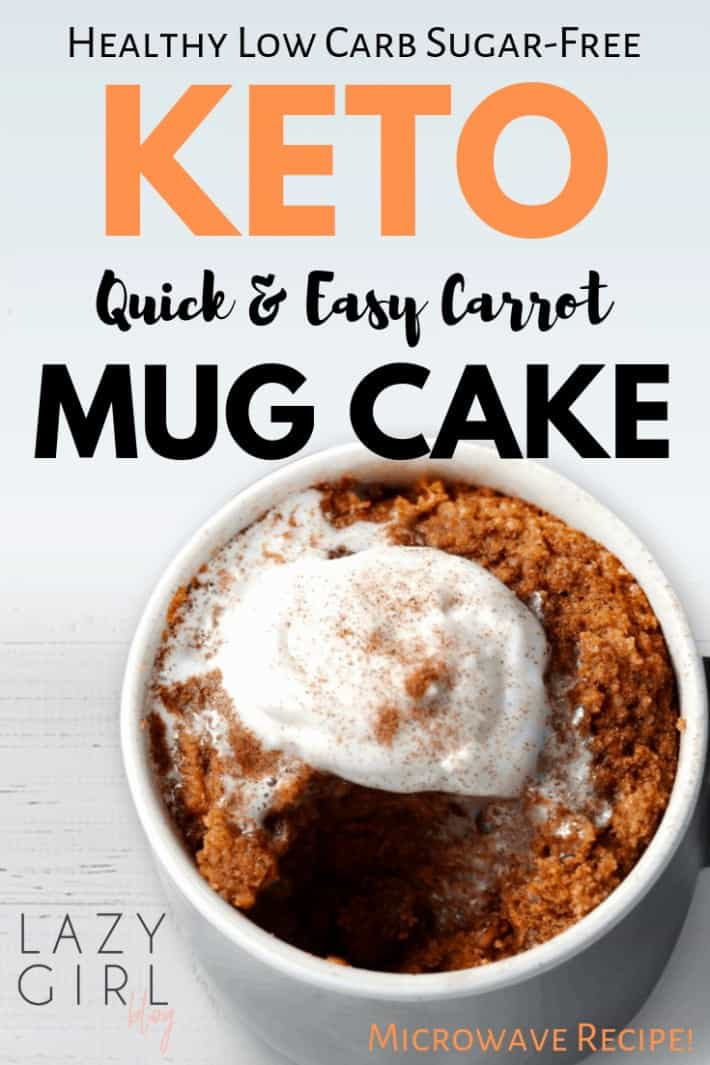 Healthy Low Carb Keto Carrot Mug Cake