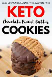Keto Chocolate Dipped Peanut Butter Cookies.