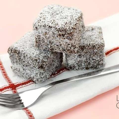 Keto Lamingtons - Best Low Carb Chocolate Coconut Cake Bites image