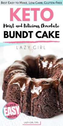 Keto chocolate bundt cake