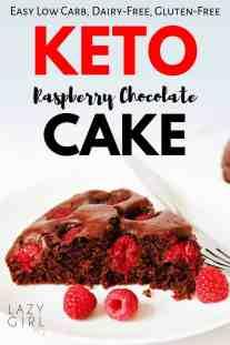 Keto Raspberry Chocolate Cake