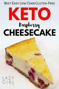 Easy Low Carb Keto Raspberry Cheesecake