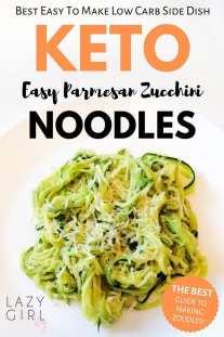 best low carb keto parmesan zucchini noodles