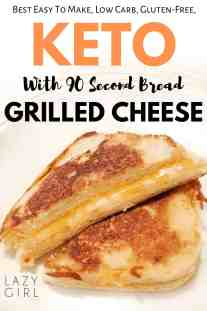 Keto Grilled Cheese With 90 Second Bread