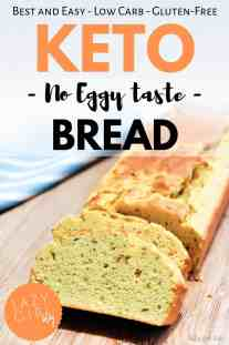 """If you miss bread, try this super simple recipe out! This is the only Keto bread recipe you'll ever need. This one is pretty close to the """"real"""" thing even with the eggs..."""