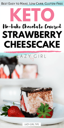 No Bake Low Carb Chocolate Covered Strawberry Cheesecake picture.