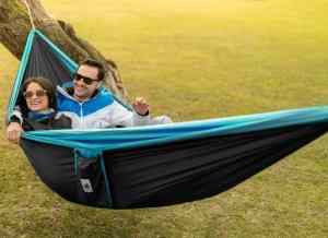 4in1 Double Camping Hammock With Straps Use