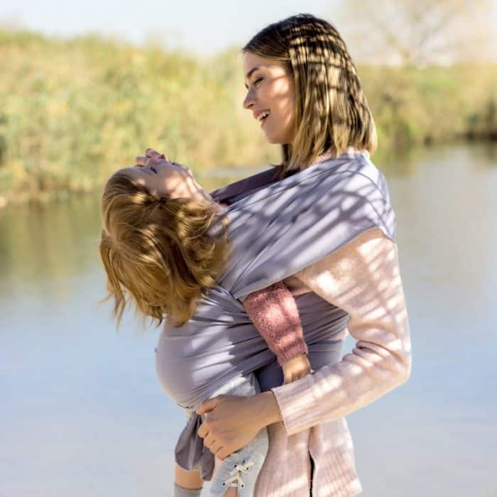 Baby Sling Wrap Use in public and nature