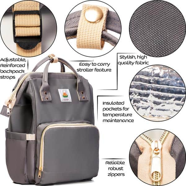 Lazy Monk Diaper Backpack Features