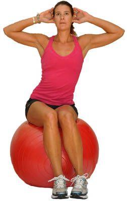 Exercise Ball - Ball Circles workout