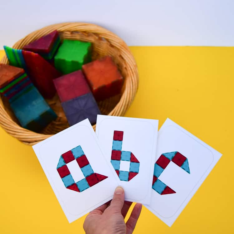magnetic blocks with alphabets