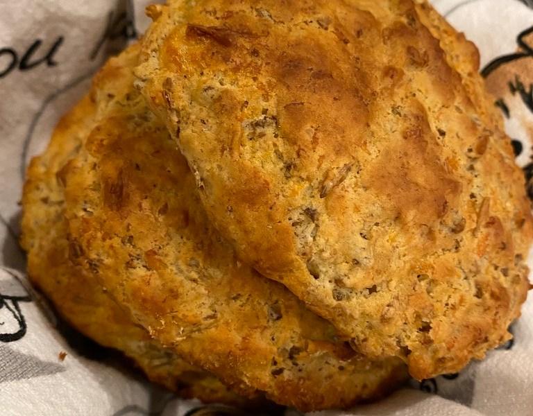 Spent grain buttermilk biscuits